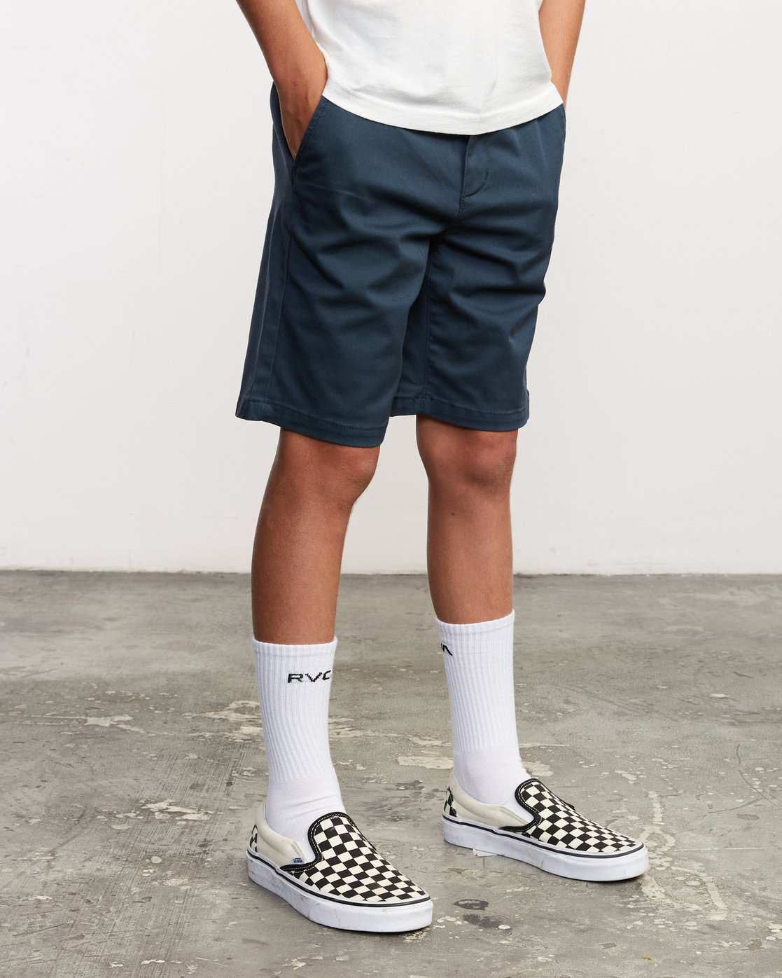 6 Boys Weekday Stretch Short Blue B240TRWD RVCA