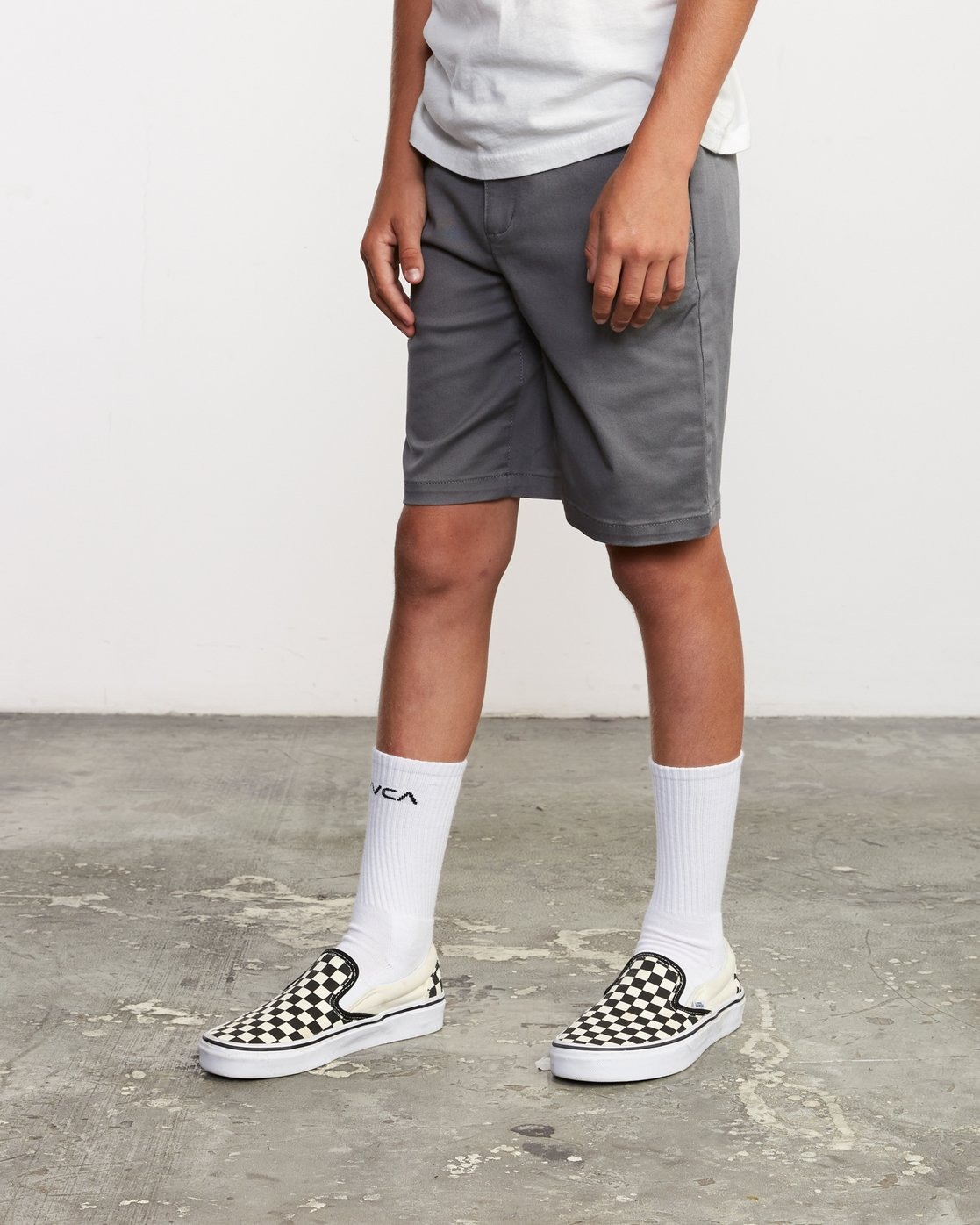 4 Boys Weekday Stretch Short Grey B240TRWD RVCA
