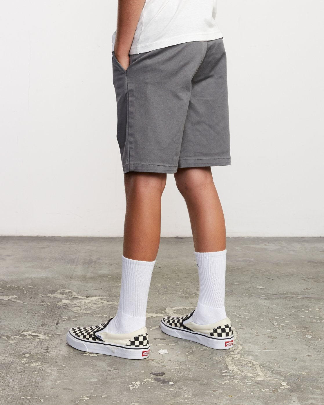 3 Boys Weekday Stretch Short Grey B240TRWD RVCA