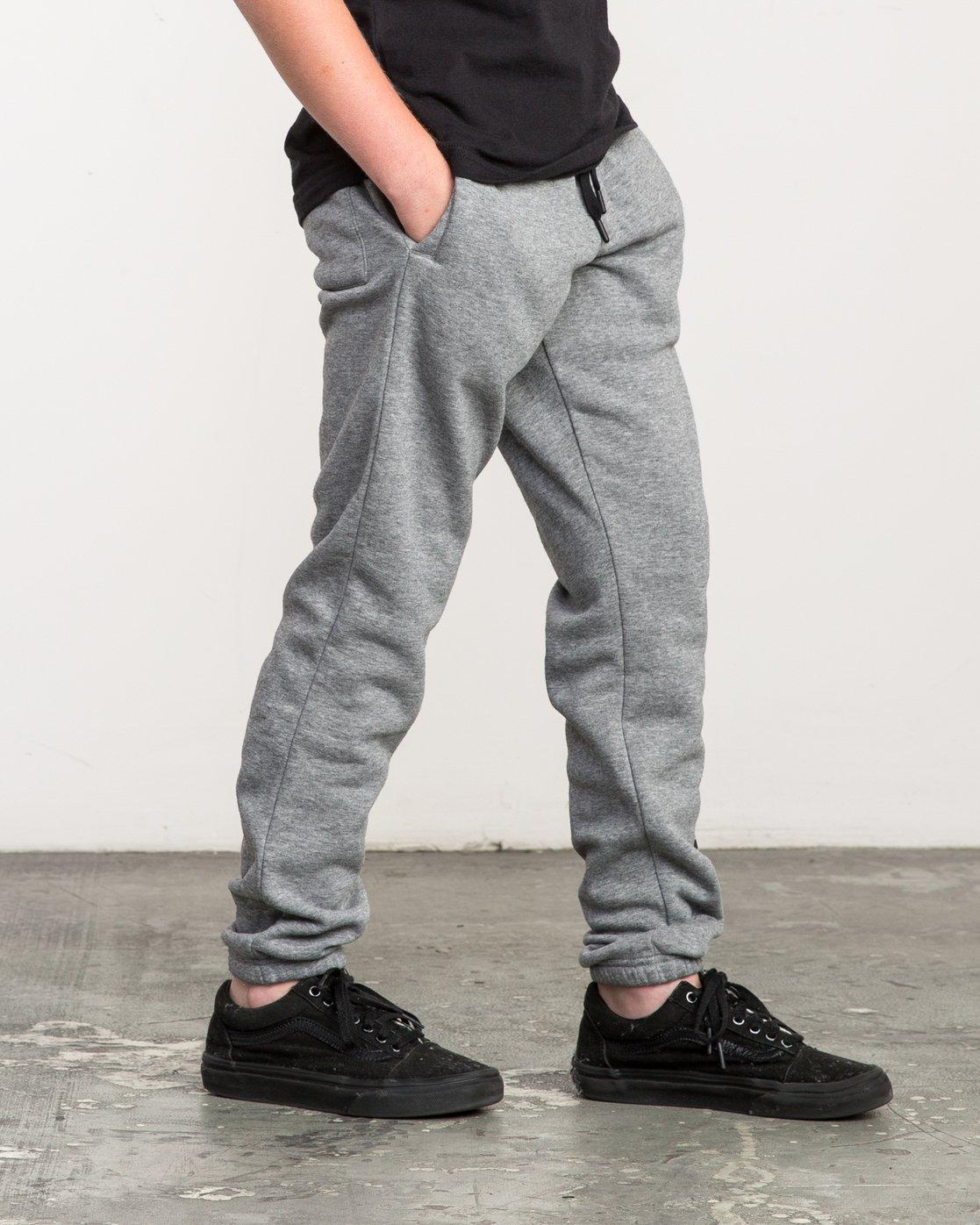 5 Boy's VA Guard Fleece Sweatpant Grey B301QRGU RVCA