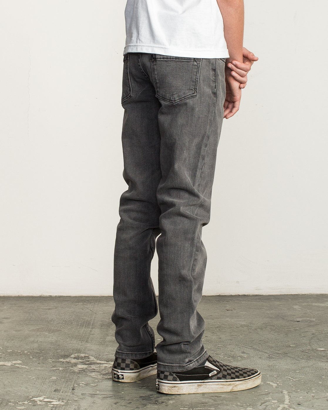 4 Boy's Daggers Denim Jeans Grey B302QRDA RVCA