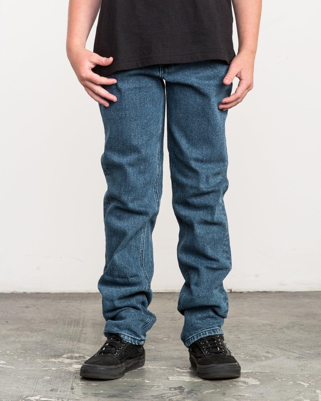 0 Boy's Daggers Denim Jeans Blue B303QRDA RVCA