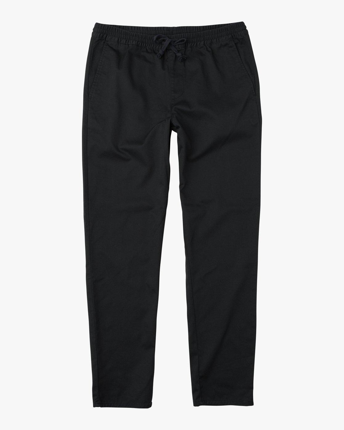 6 Boy's A.T. Dayshift Elastic Pant Black B310QRDS RVCA
