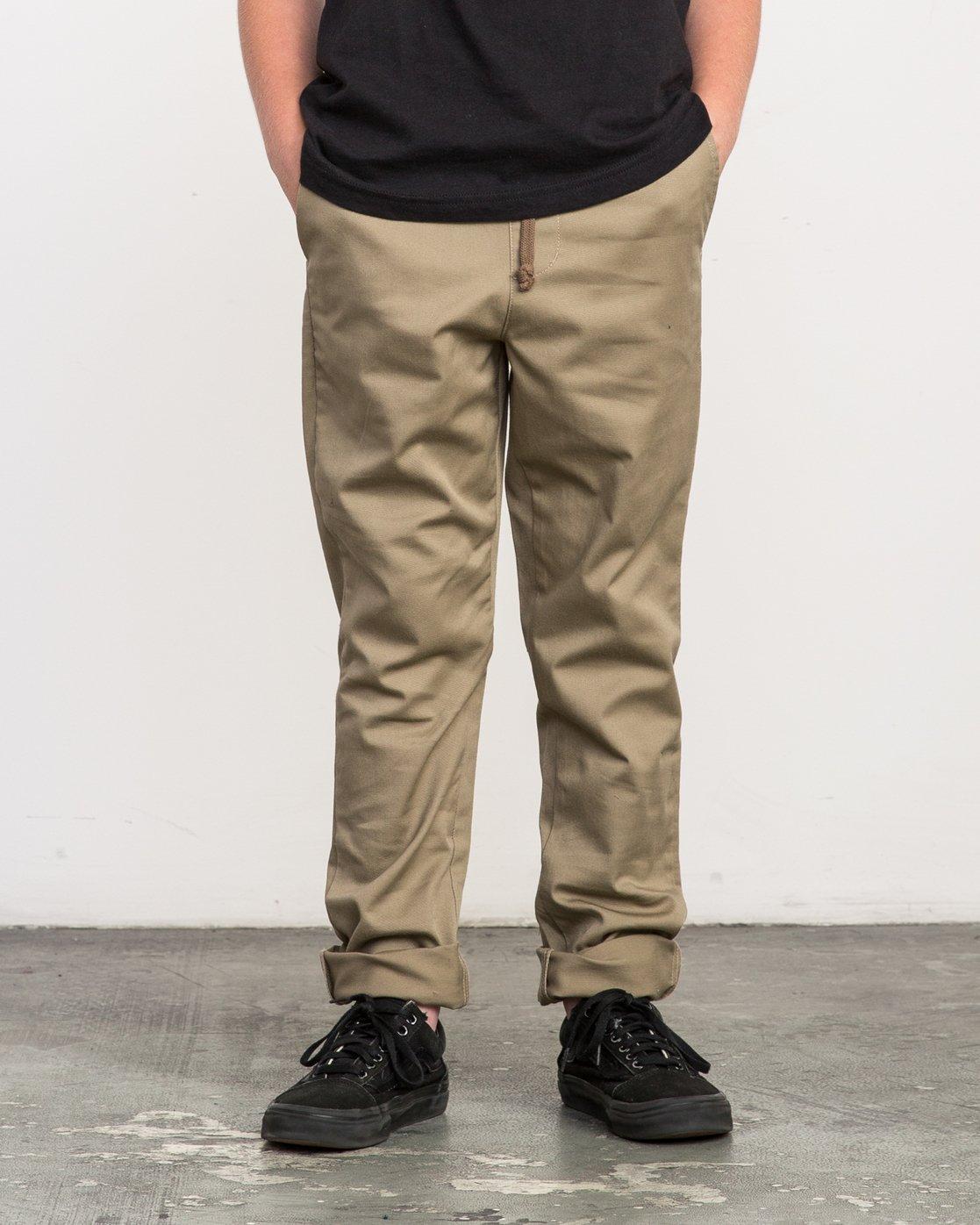 0 Boy's A.T. Dayshift Elastic Pant Beige B310QRDS RVCA
