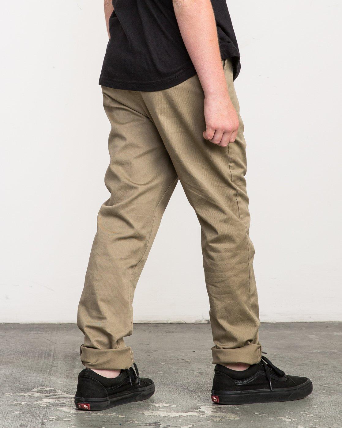 4 Boy's A.T. Dayshift Elastic Pant White B310QRDS RVCA