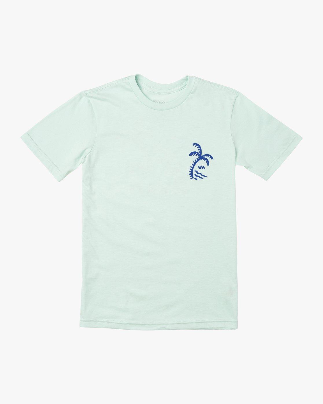 0 BOY'S PALMER T-SHIRT Blue B4011RPA RVCA