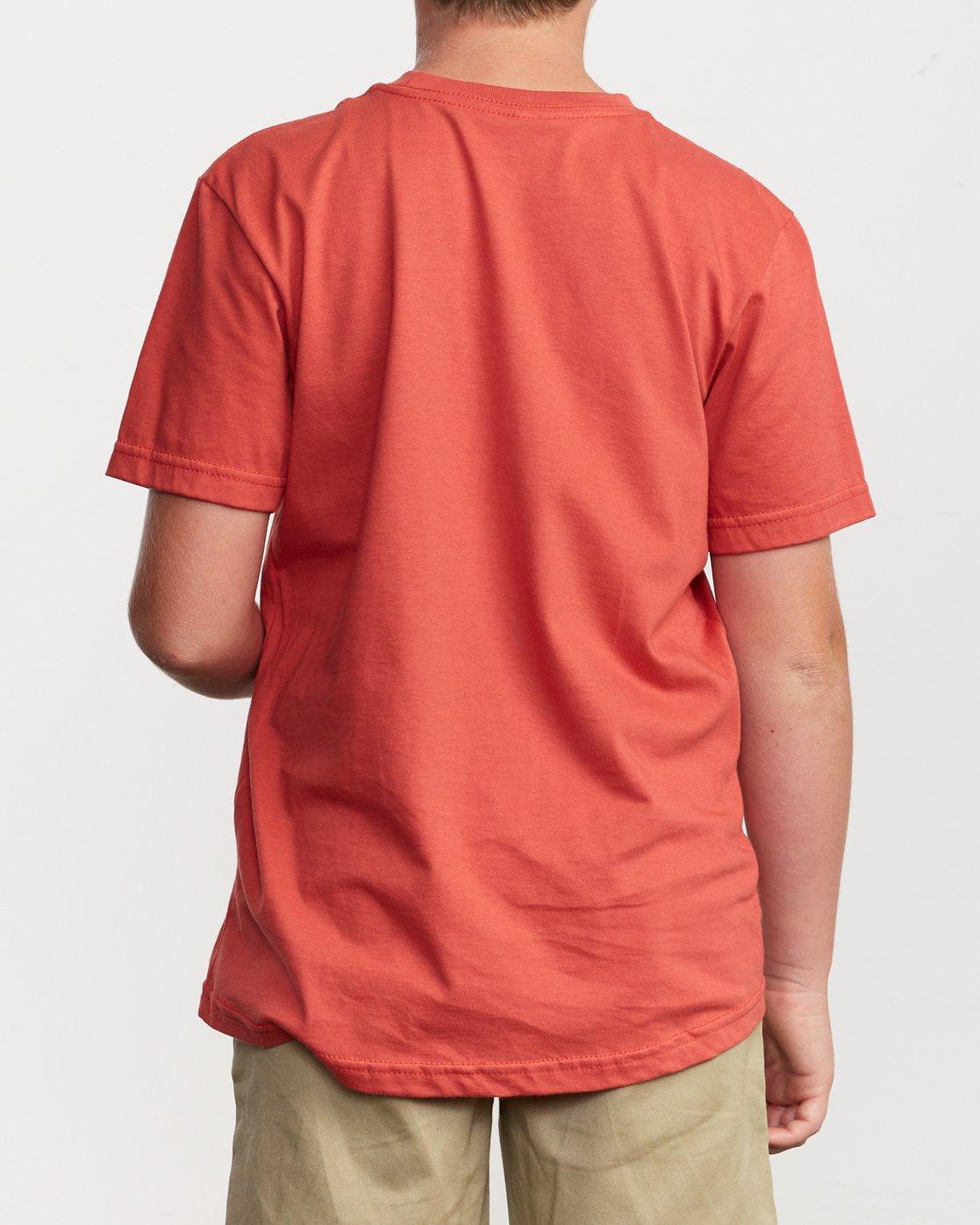 3 Boy's Big RVCA T-Shirt Green B401SRBI RVCA