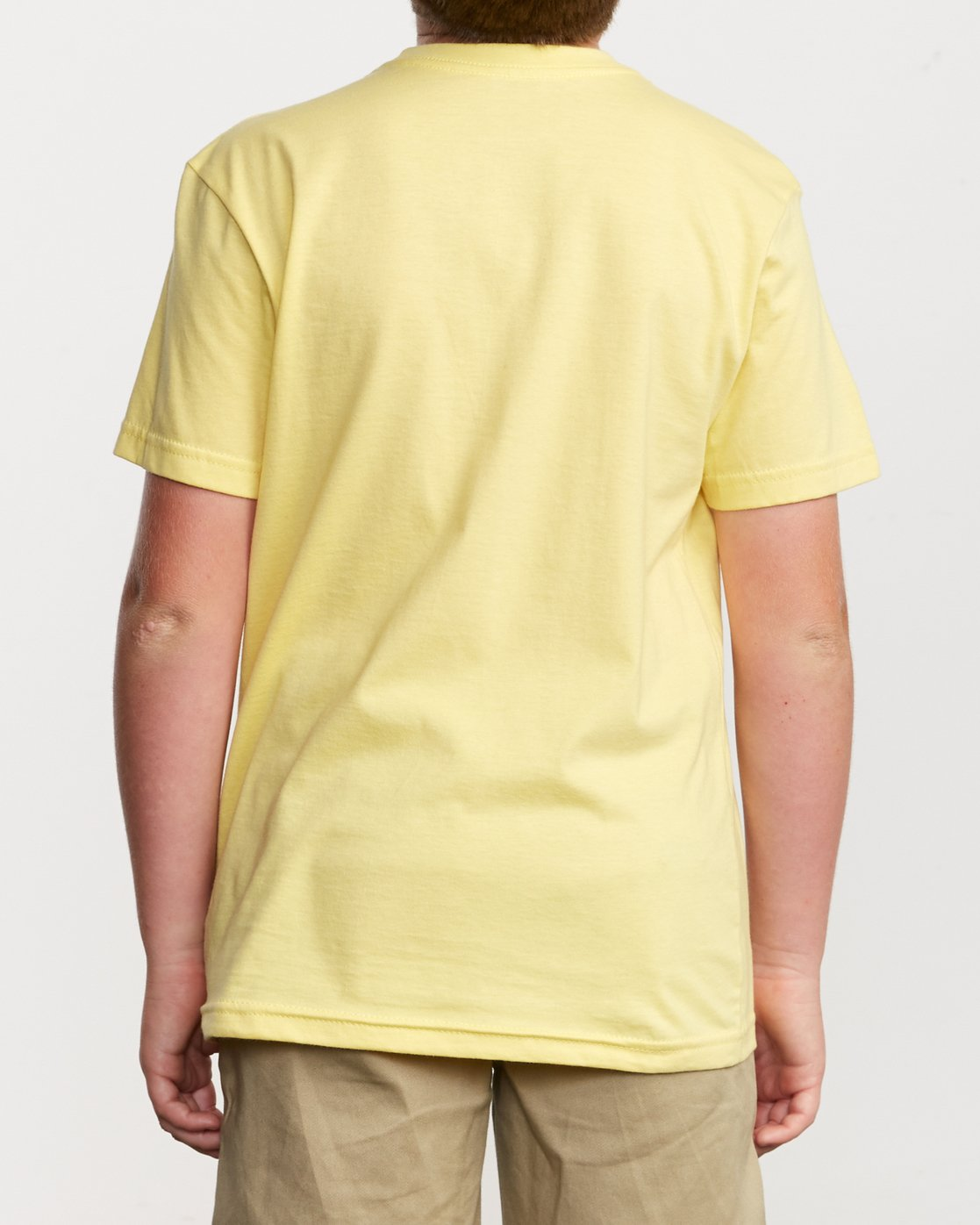 3 Boy's Big RVCA T-Shirt Yellow B401SRBI RVCA