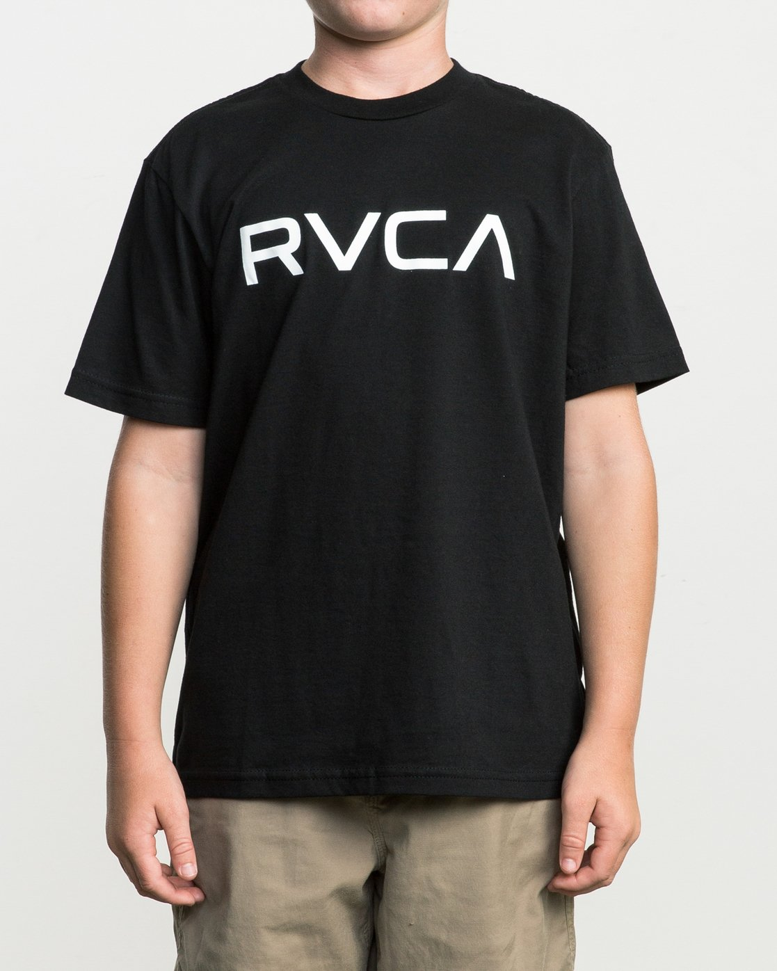 1 Boy's Big RVCA T-Shirt Black B401SRBI RVCA