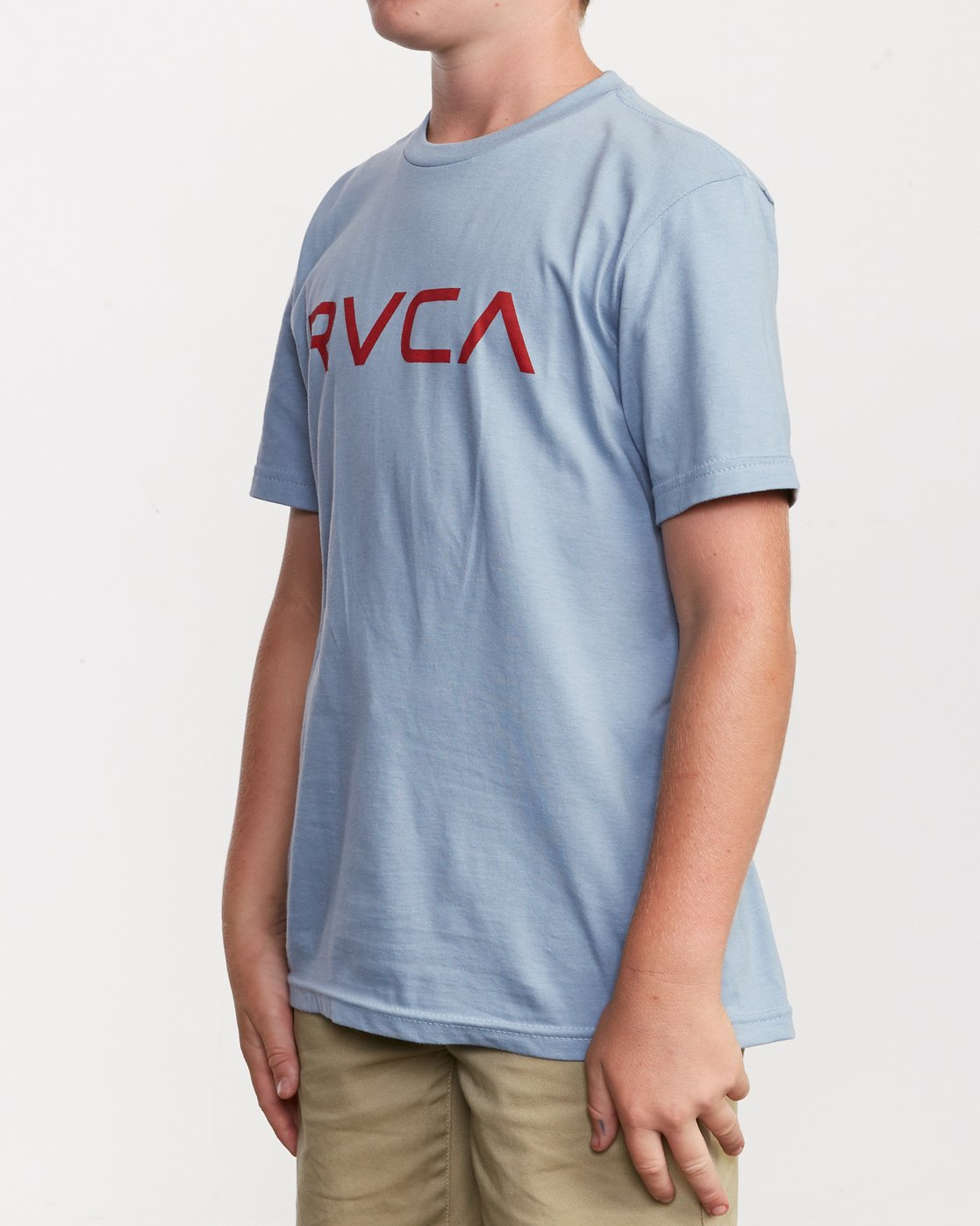 2 Boy's Big RVCA T-Shirt Blue B401SRBI RVCA
