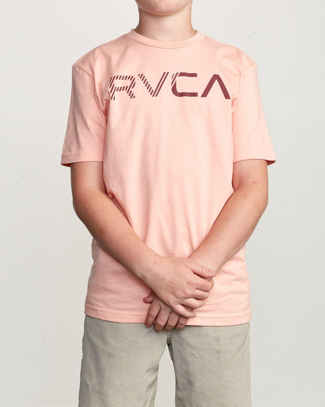 1 Boy's Blinded T-Shirt Orange B401TRBL RVCA