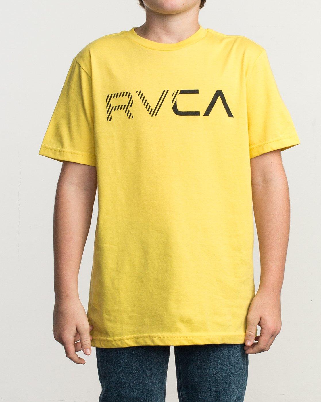 1 Boy's Blinded T-Shirt Yellow B401TRBL RVCA