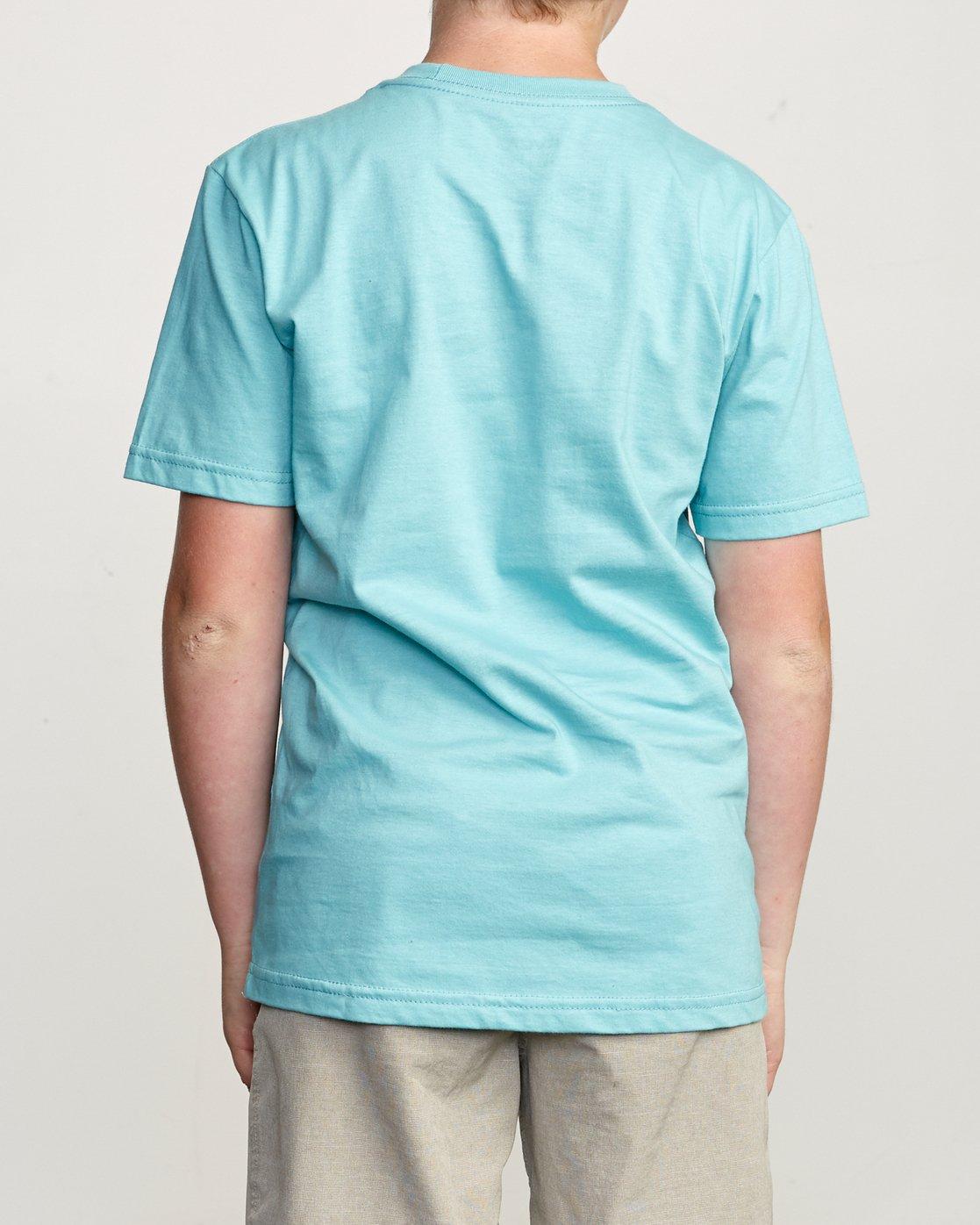 3 Boy's Blinded T-Shirt Blue B401TRBL RVCA