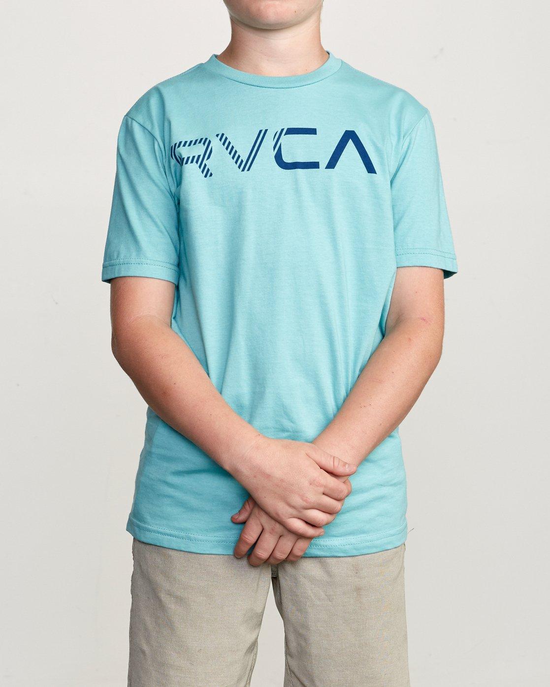 1 Boy's Blinded T-Shirt Blue B401TRBL RVCA