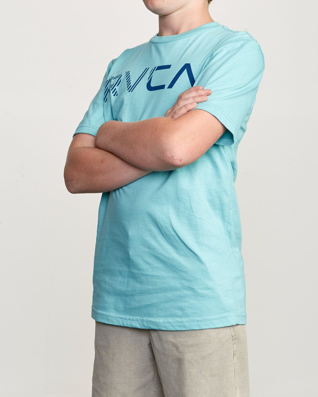 2 Boy's Blinded T-Shirt Blue B401TRBL RVCA