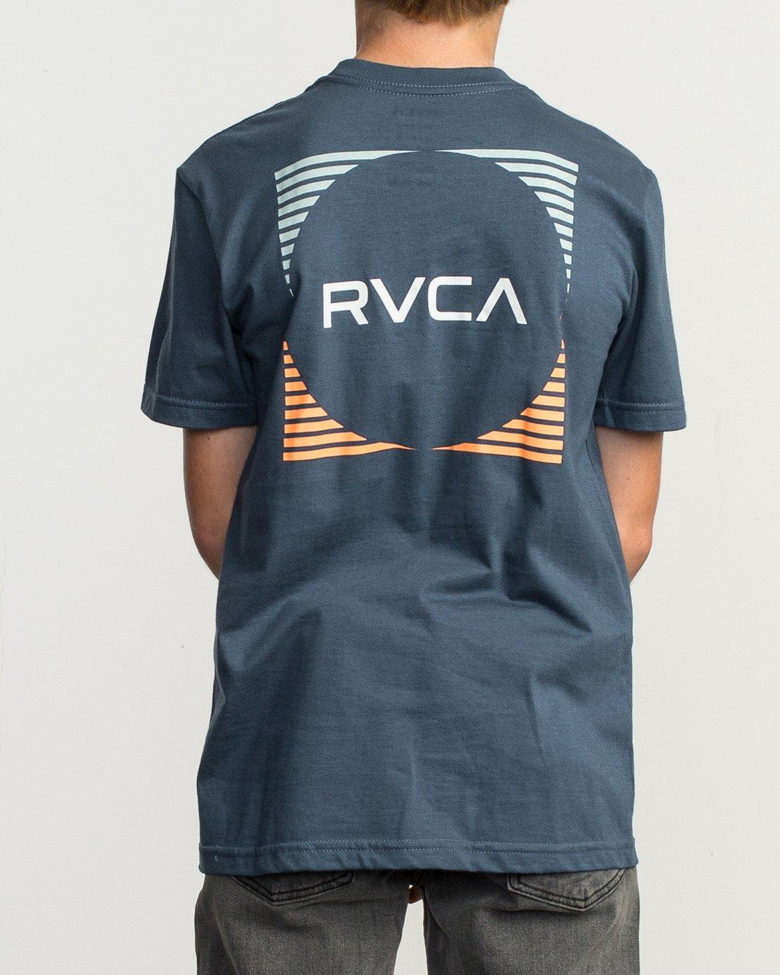 4 Boy's Motorstripe T-Shirt Blue B401TRMS RVCA