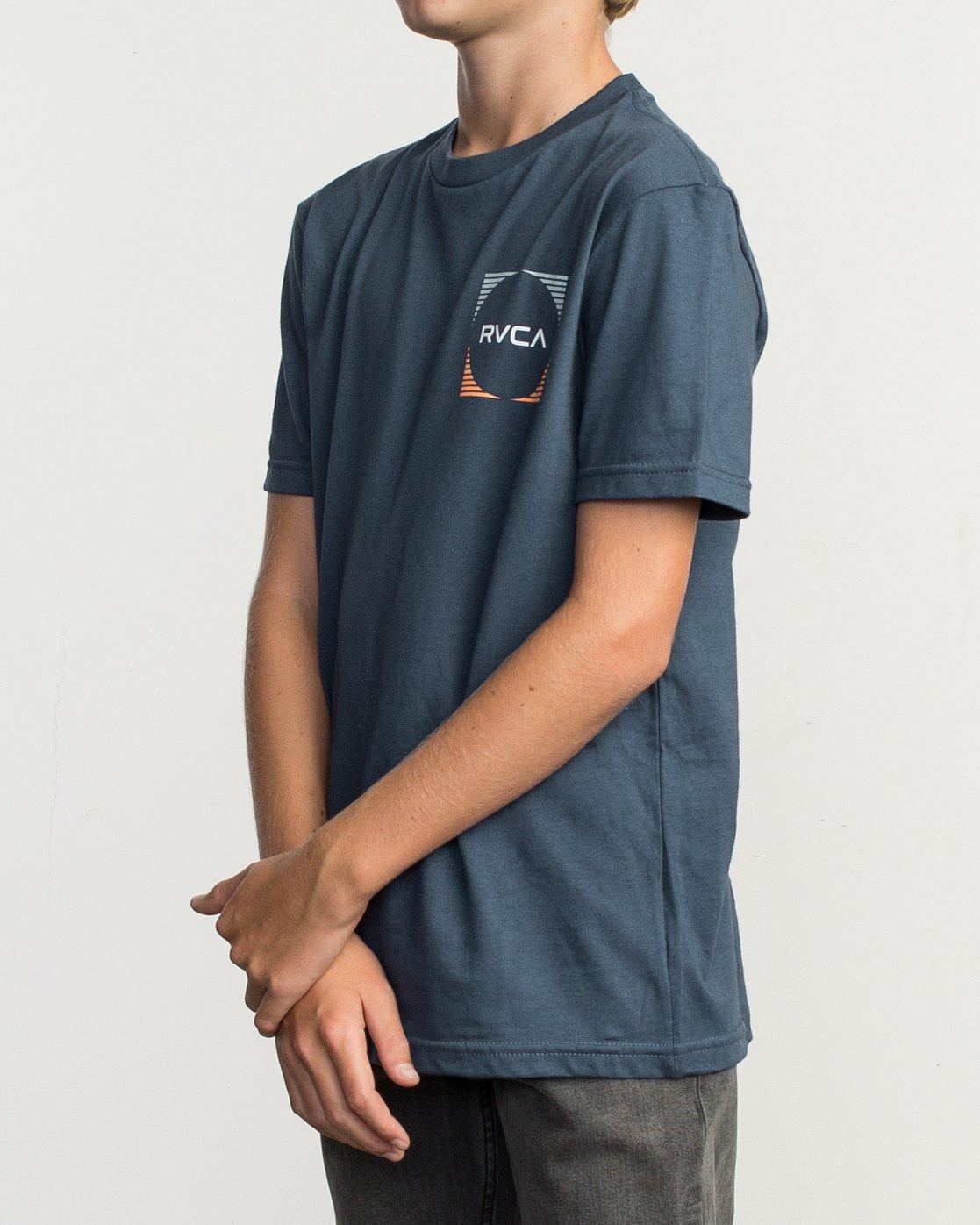 3 Boy's Motorstripe T-Shirt Blue B401TRMS RVCA