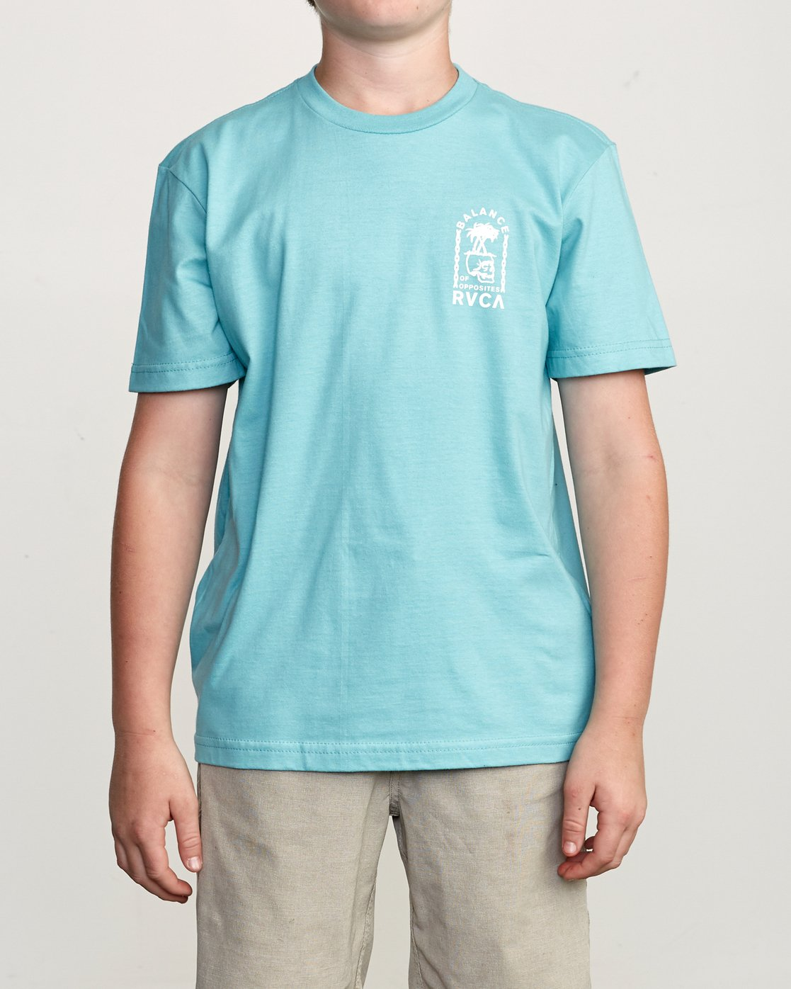 2 Boy's Bad Palms T-Shirt Blue B401URBA RVCA