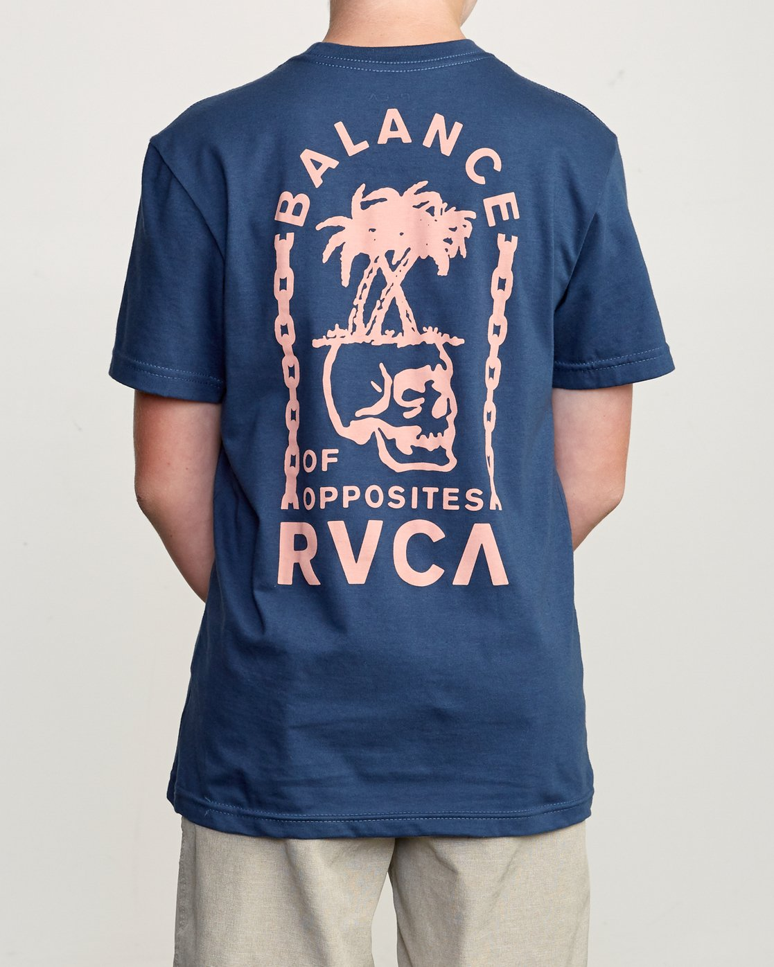 3 Boy's Bad Palms T-Shirt Blue B401URBA RVCA