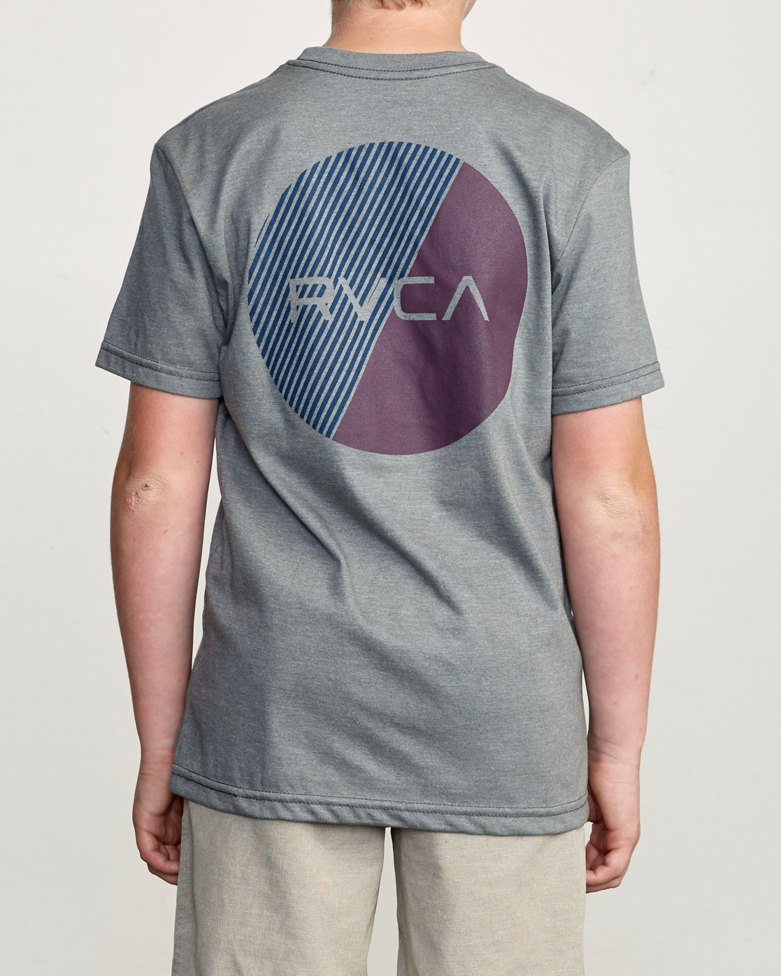 4 Boy's Blind Motors T-Shirt Grey B401URBM RVCA