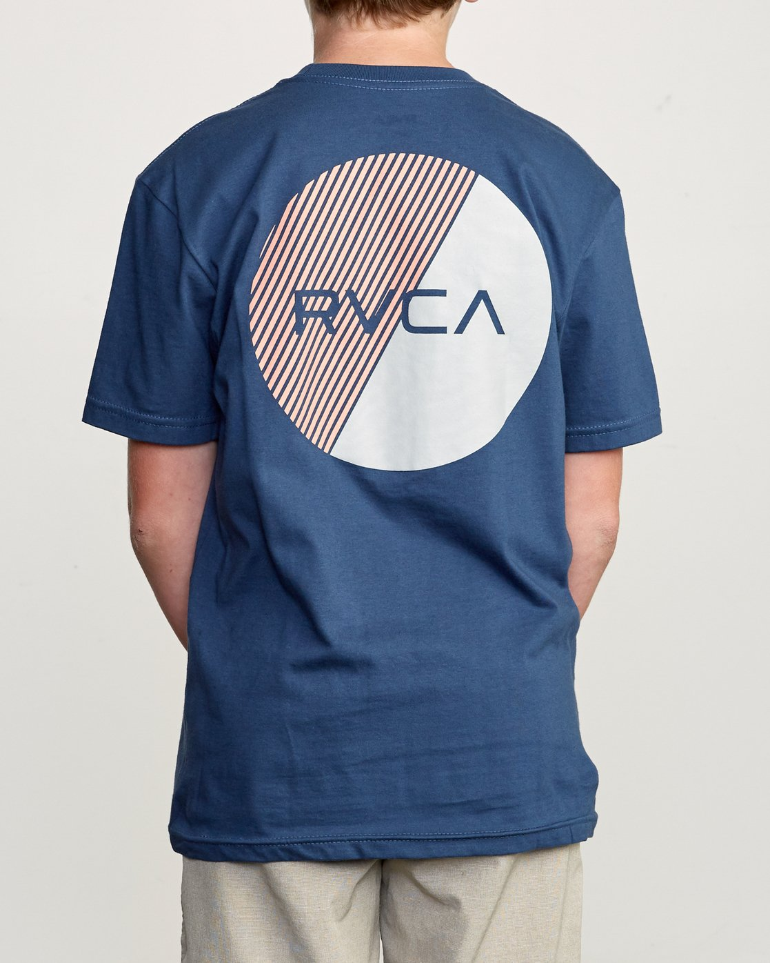 4 Boy's Blind Motors T-Shirt Blue B401URBM RVCA