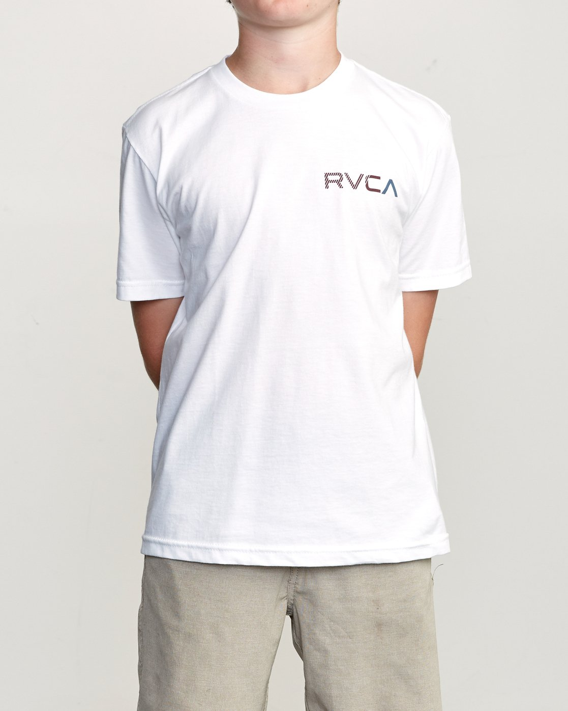 2 Boy's Blind Motors T-Shirt White B401URBM RVCA