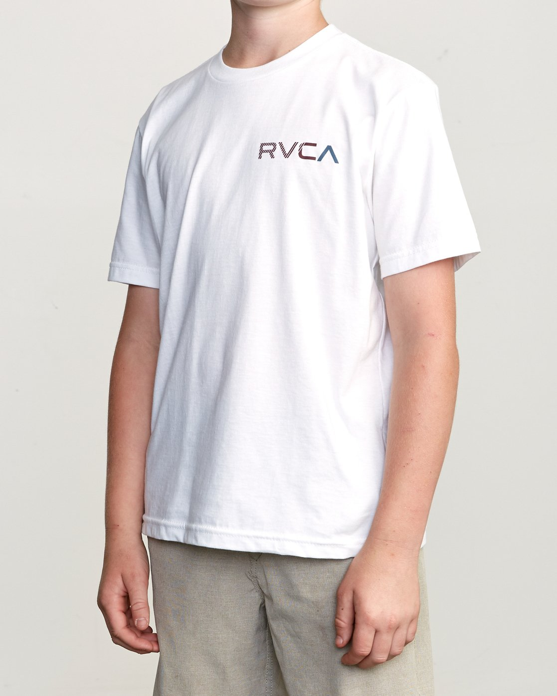 3 Boy's Blind Motors T-Shirt White B401URBM RVCA