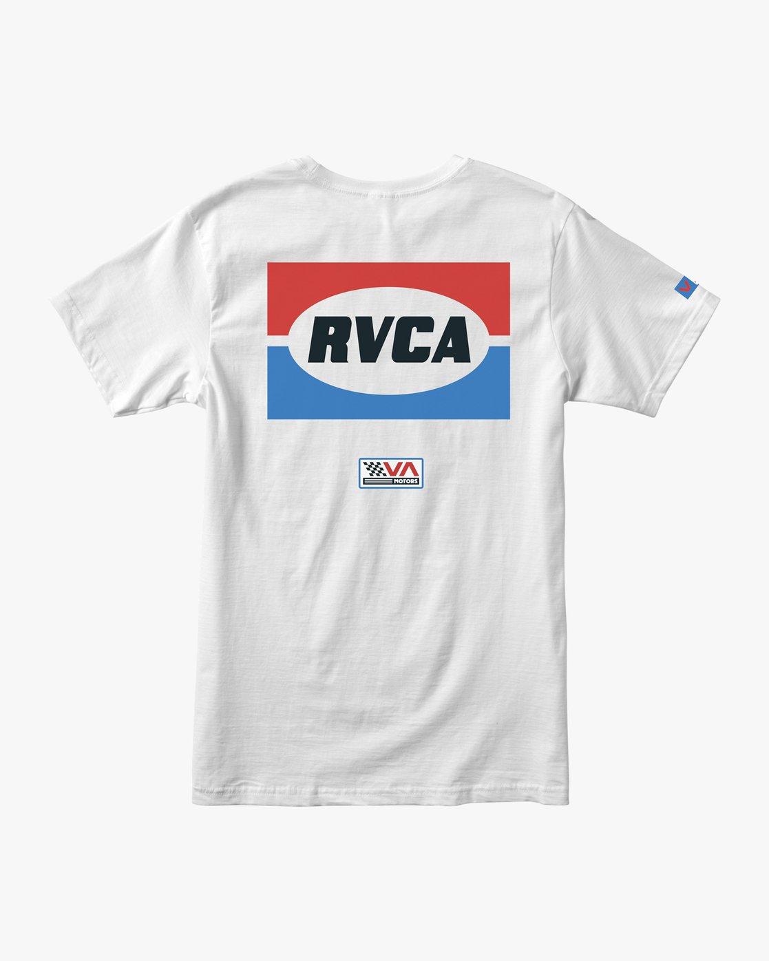 0 Boy's Daytona T-Shirt White B401URDA RVCA
