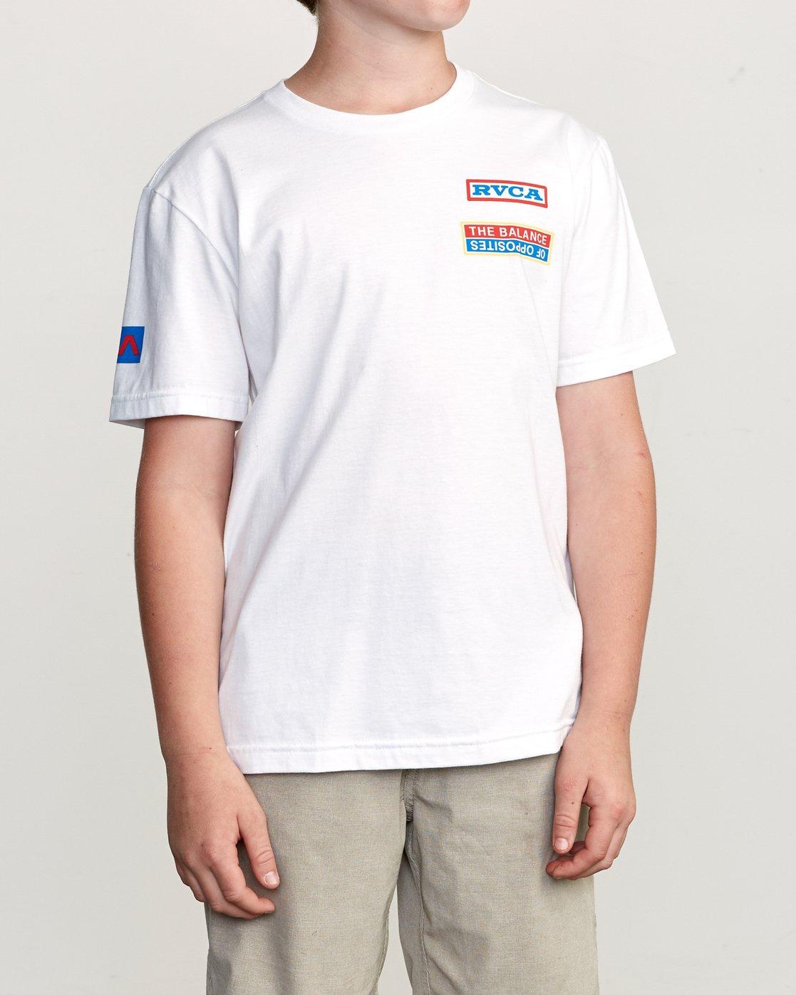 2 Boy's Daytona T-Shirt White B401URDA RVCA