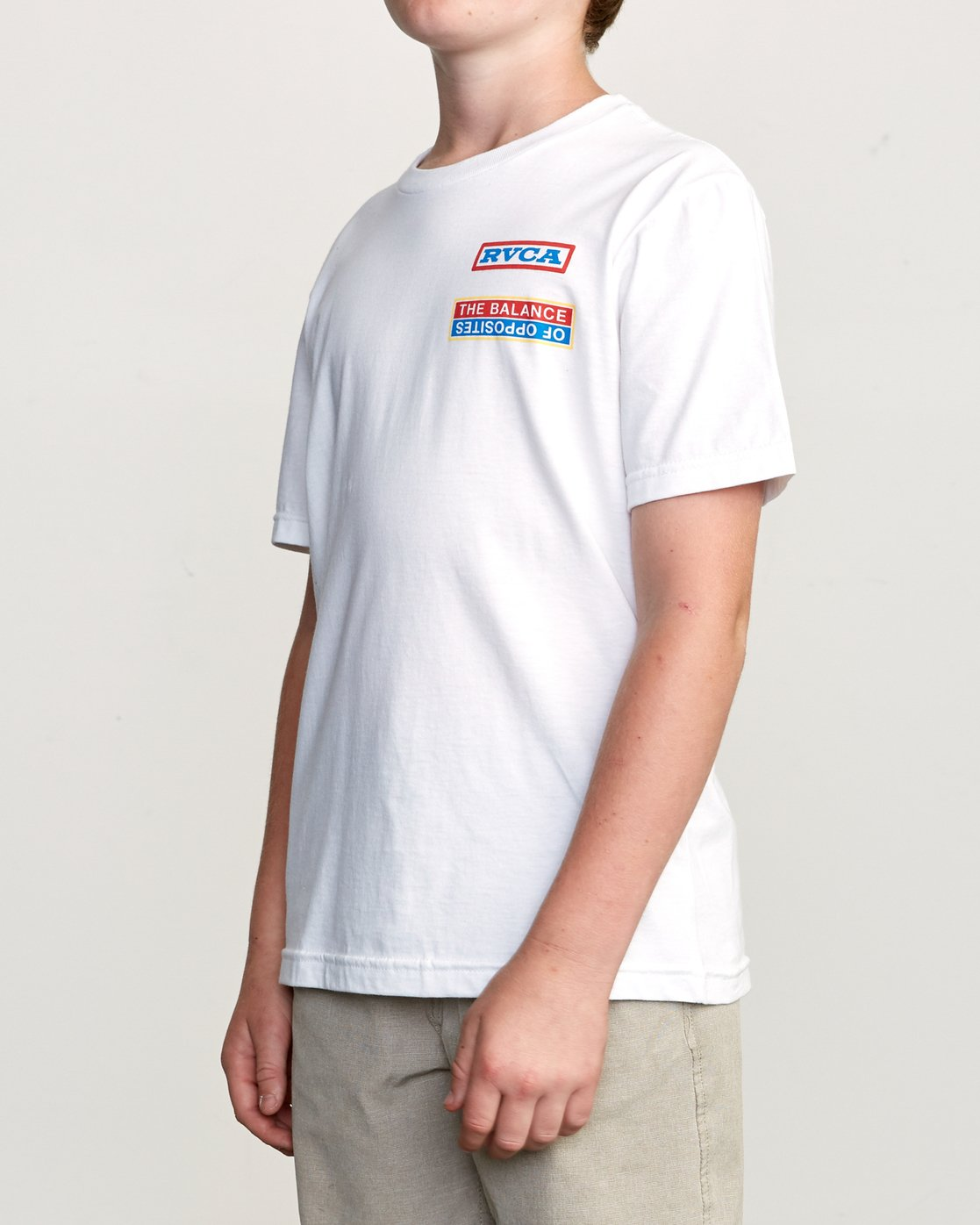 3 Boy's Daytona T-Shirt White B401URDA RVCA