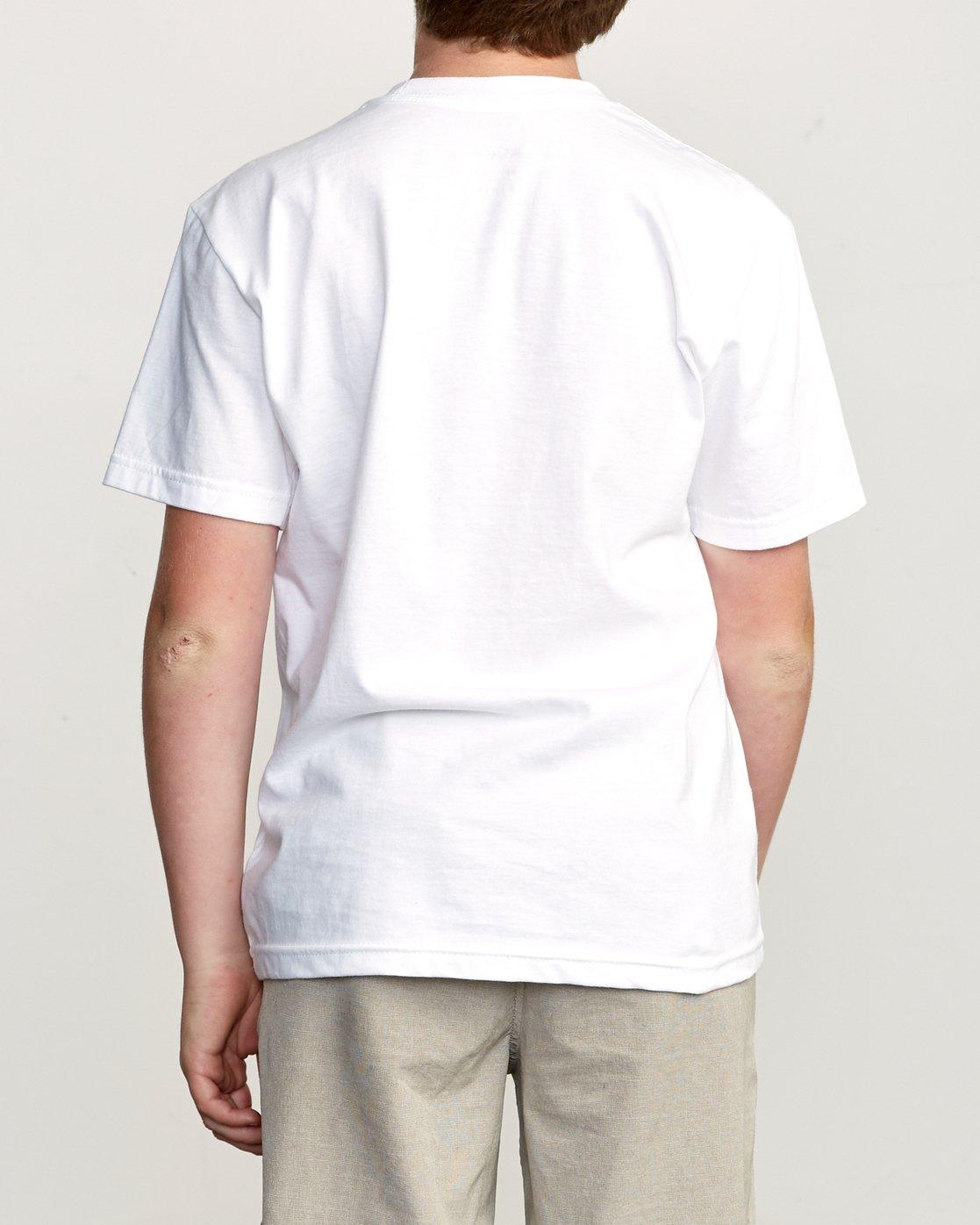 3 Boy's 3D VA T-Shirt White B401URDV RVCA