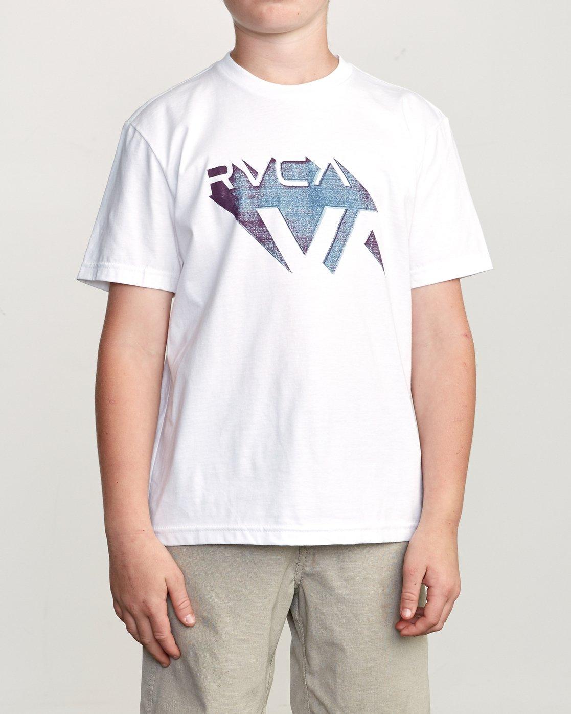 1 Boy's 3D VA T-Shirt White B401URDV RVCA