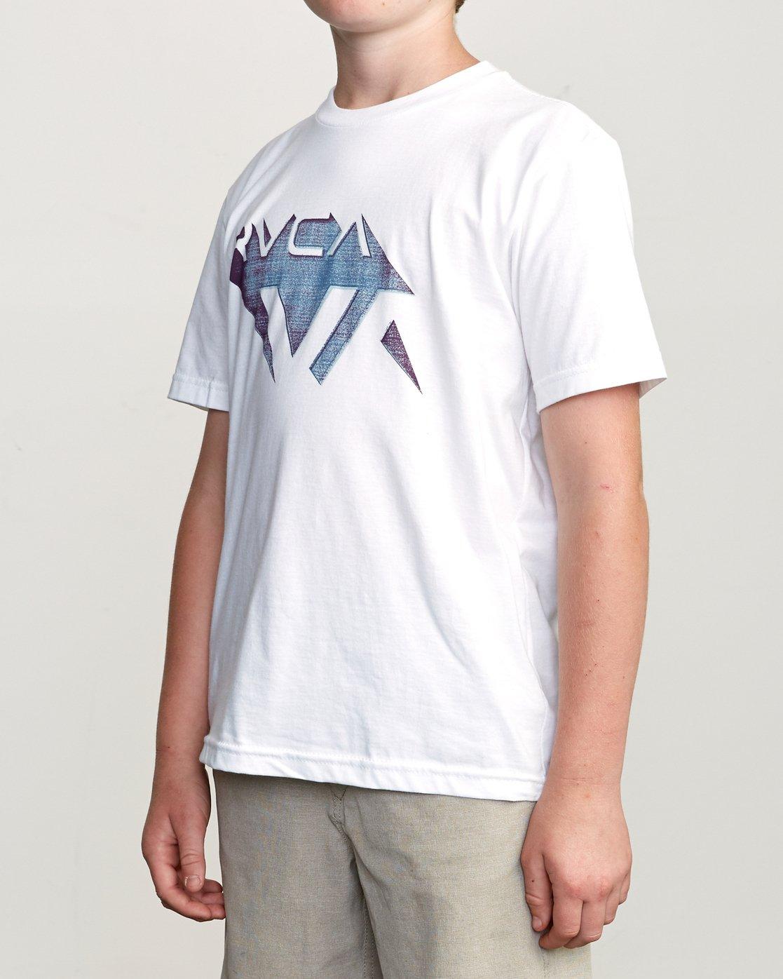2 Boy's 3D VA T-Shirt White B401URDV RVCA