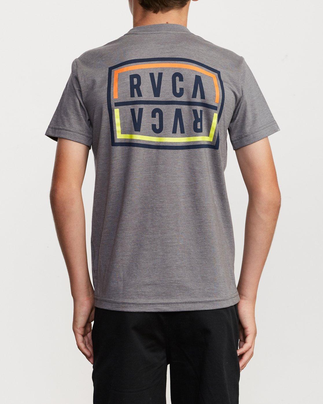 4 Boy's Flip Corpo T-Shirt Grey B401URFL RVCA