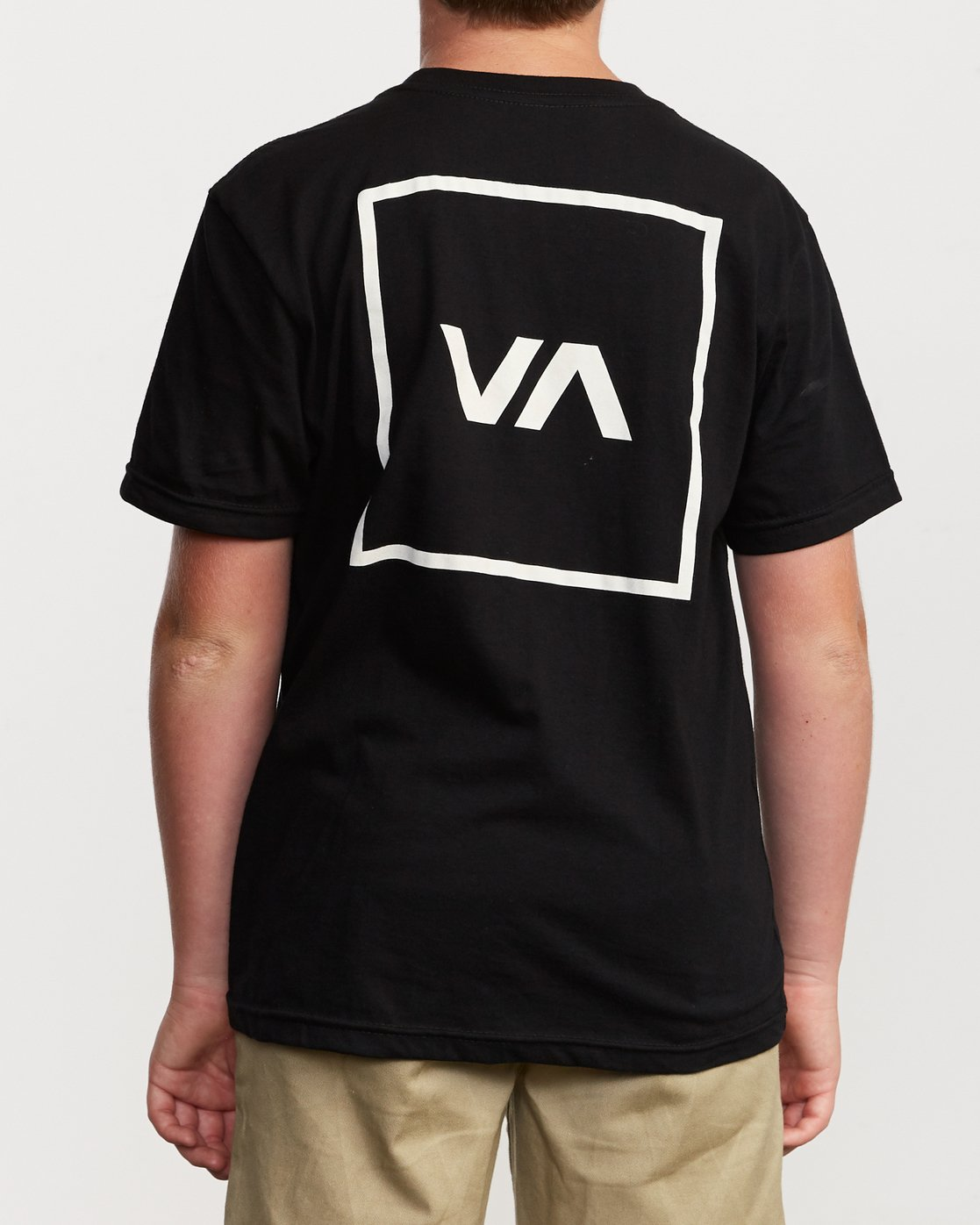 4 Boy's RVCA Box T-Shirt Black B401VRBO RVCA