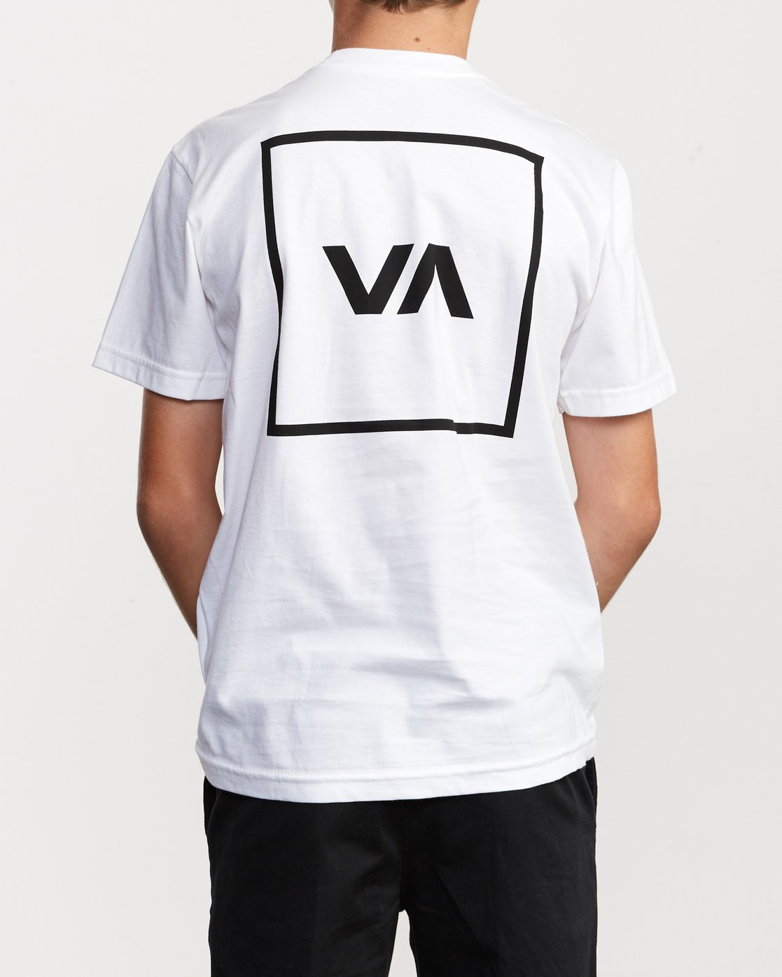4 Boys RVCA Box T-Shirt White B401VRBO RVCA
