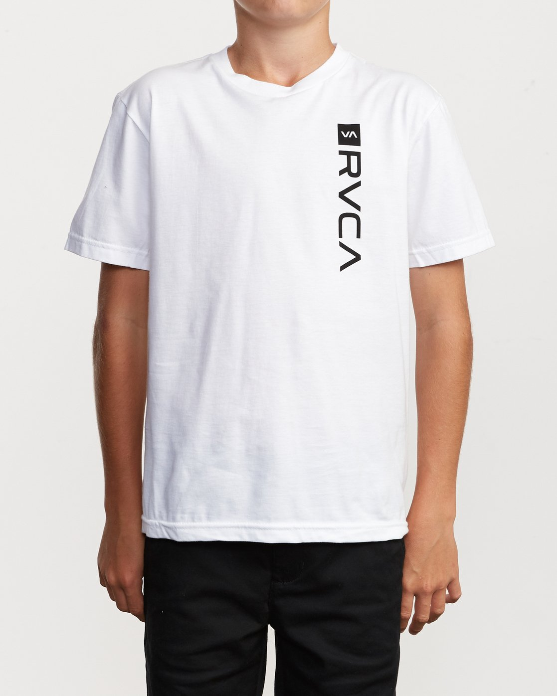 2 Boys RVCA Box T-Shirt White B401VRBO RVCA