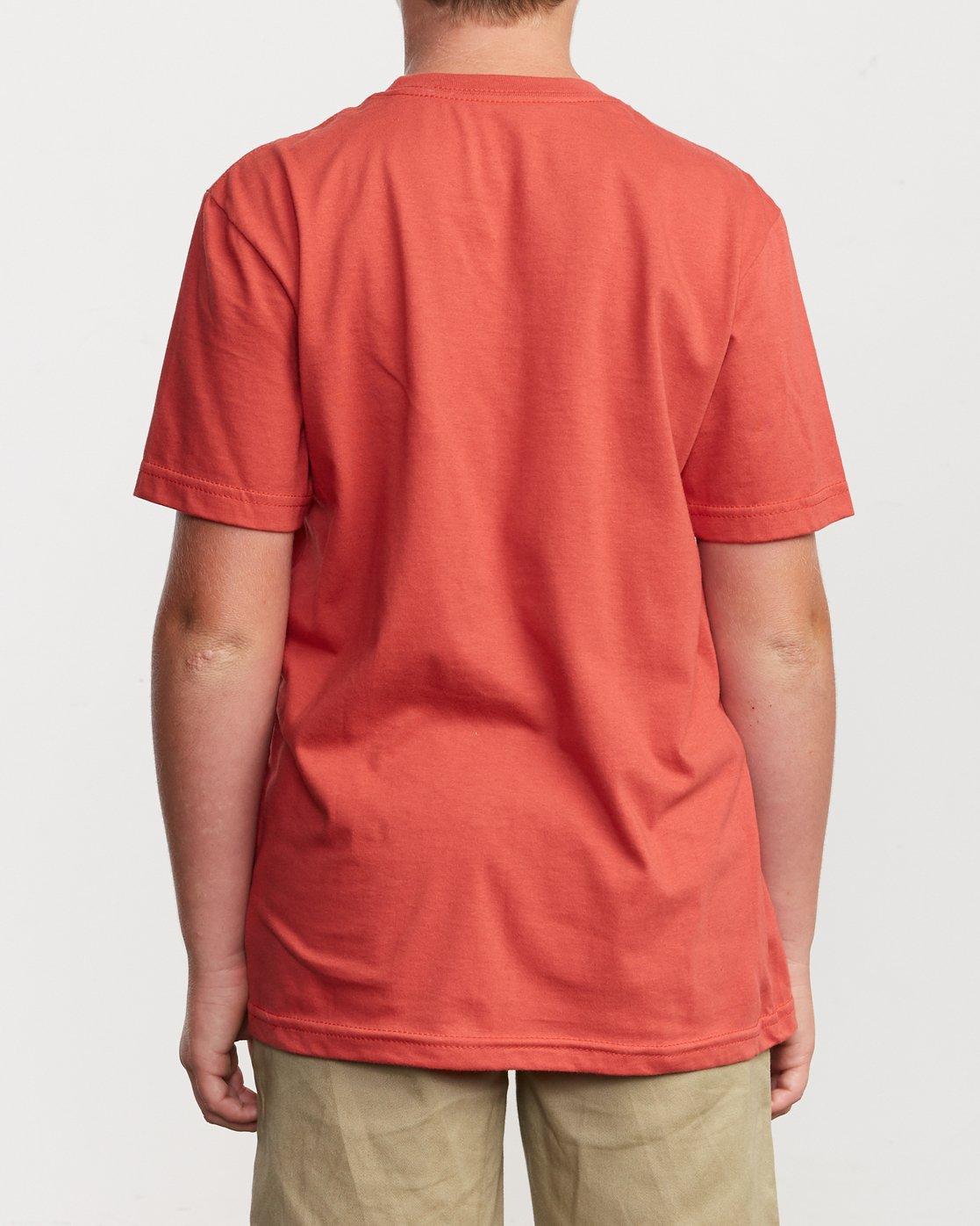 3 Boy's Horton Finner T-Shirt Green B401VRFI RVCA