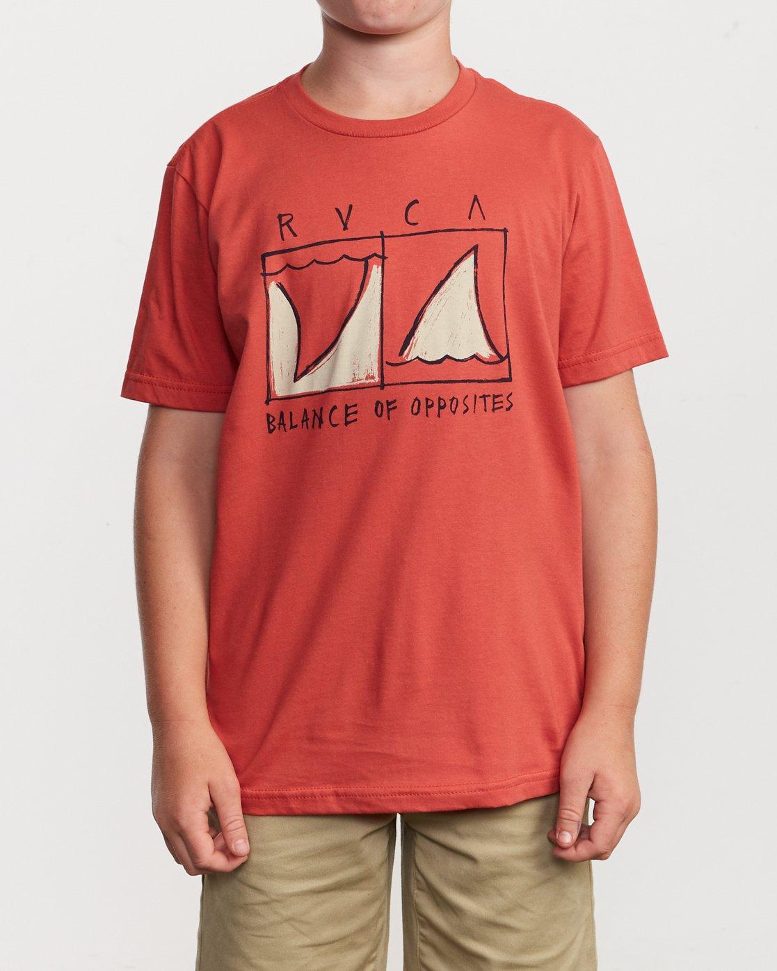1 Boy's Horton Finner T-Shirt Green B401VRFI RVCA