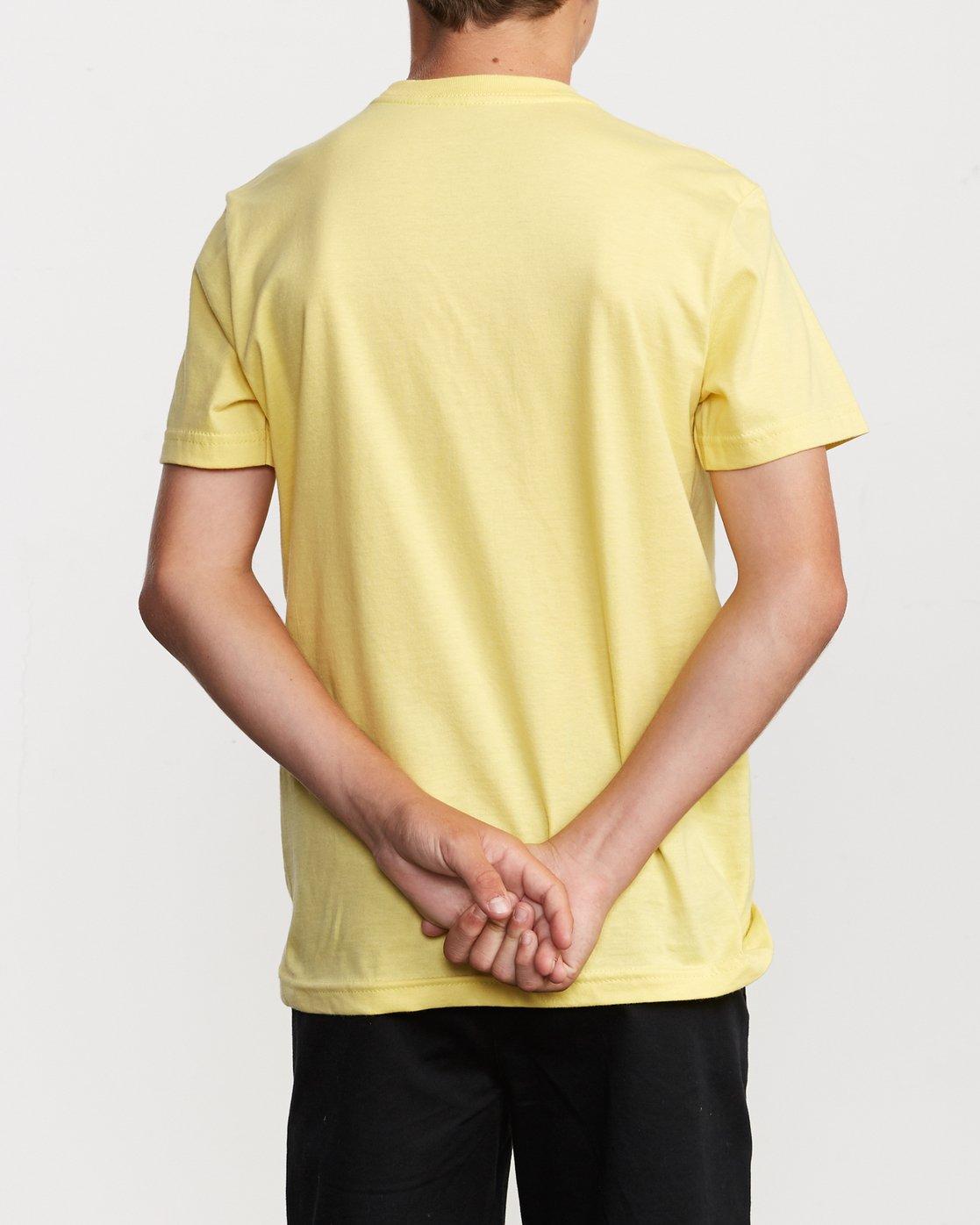 3 Boy's Horton Finner T-Shirt Yellow B401VRFI RVCA