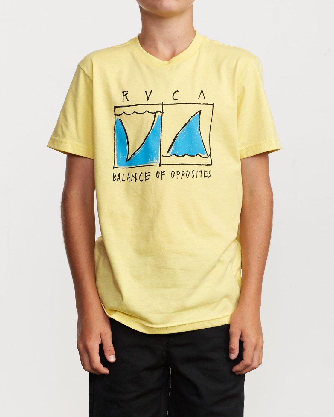 1 Boy's Horton Finner T-Shirt Yellow B401VRFI RVCA