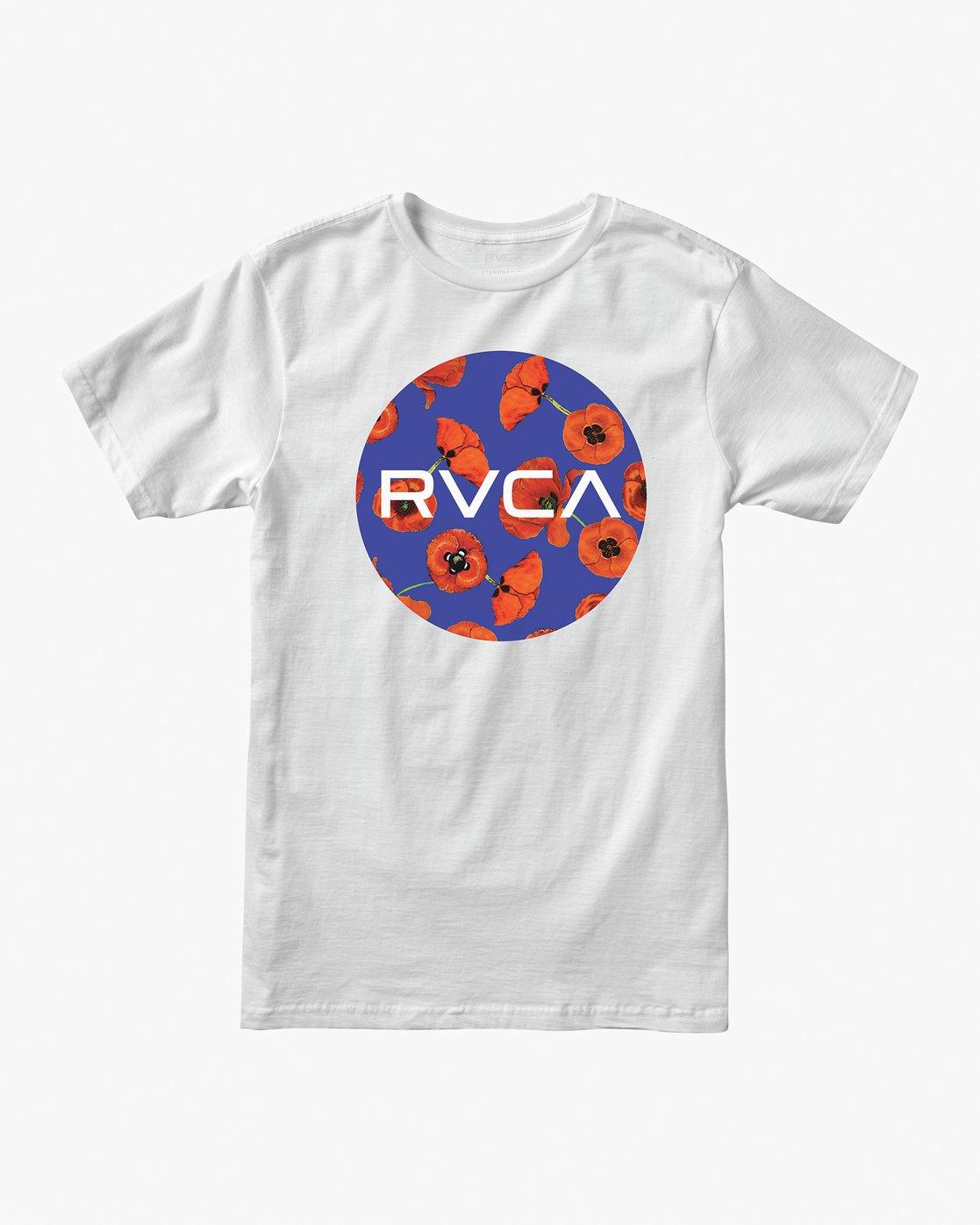 0 Boy's Motors Mix T-Shirt White B401VRMM RVCA