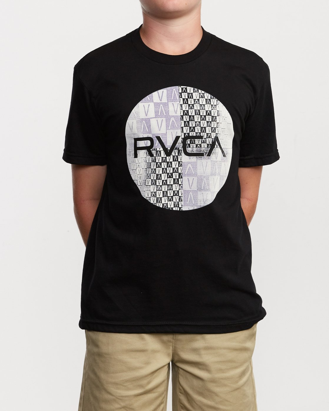 1 Boy's Motors Mix T-Shirt Black B401VRMM RVCA
