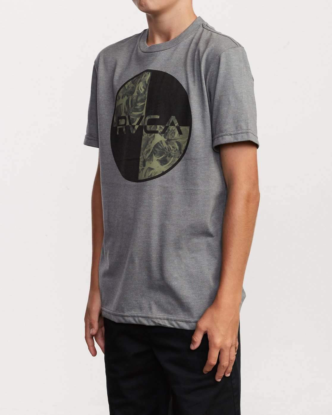 2 Boy's Motors Mix T-Shirt Grey B401VRMM RVCA