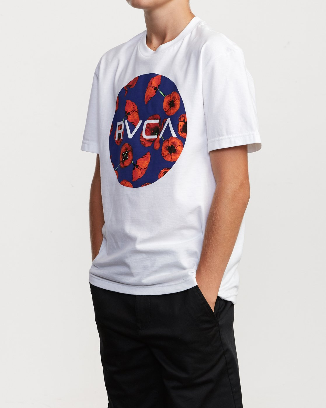2 Boy's Motors Mix T-Shirt White B401VRMM RVCA