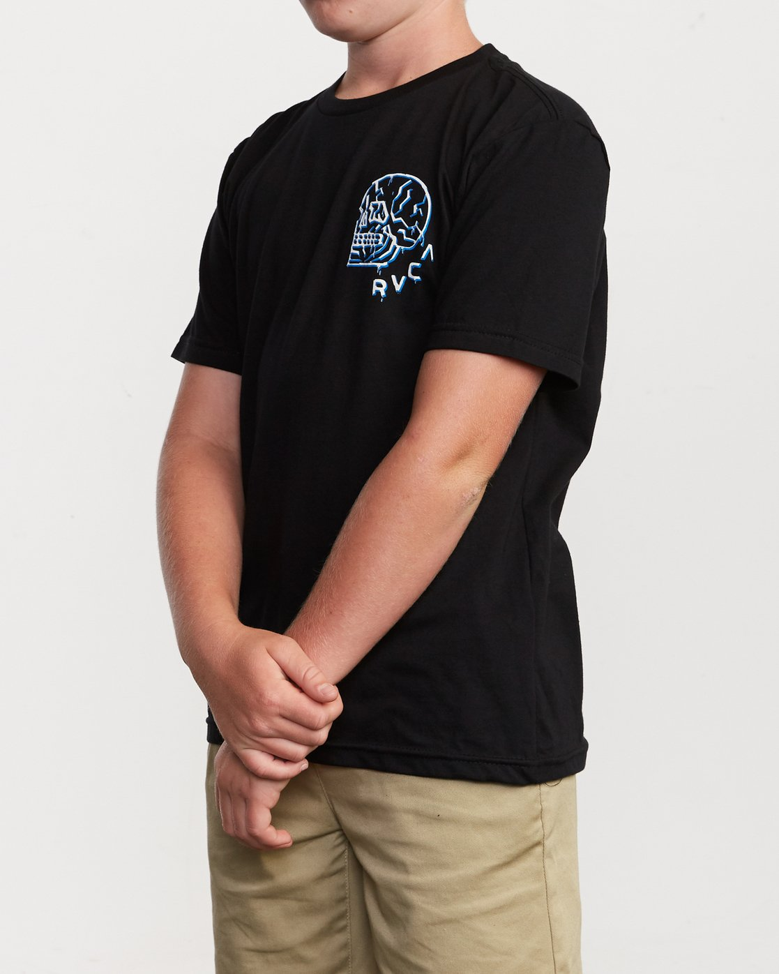 2 Boy's DMOTE Roller Skull T-Shirt Black B401VRRS RVCA