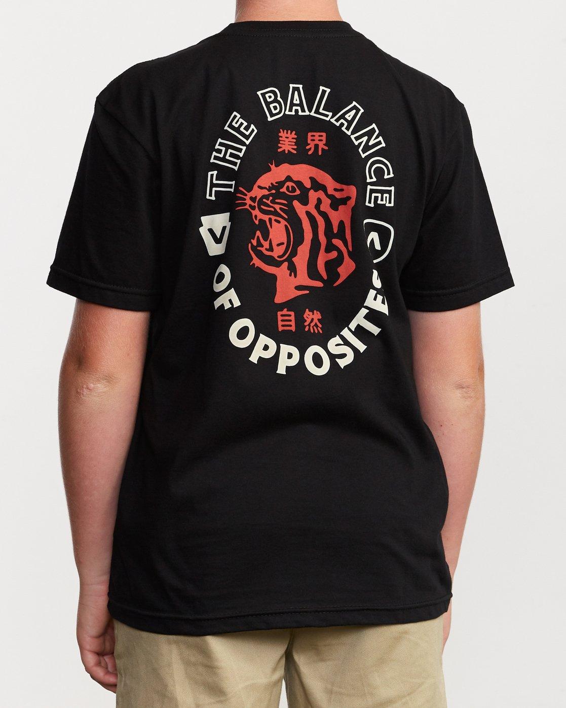 4 Boy's Siam T-Shirt Black B401VRSI RVCA