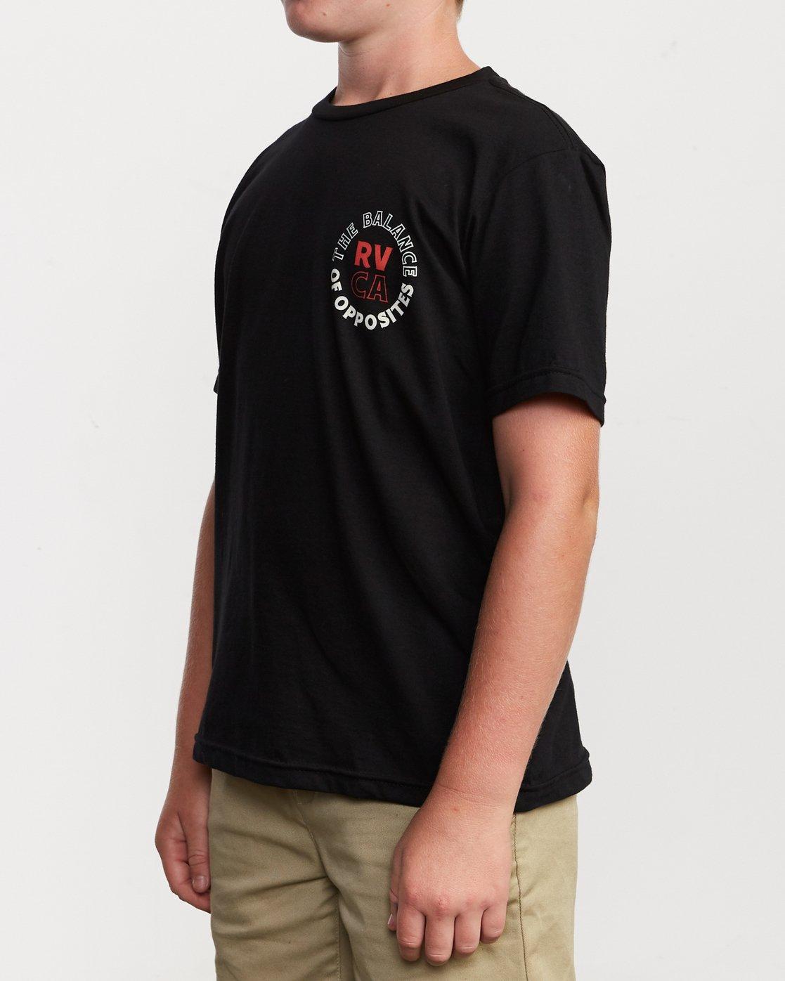 3 Boy's Siam T-Shirt Black B401VRSI RVCA