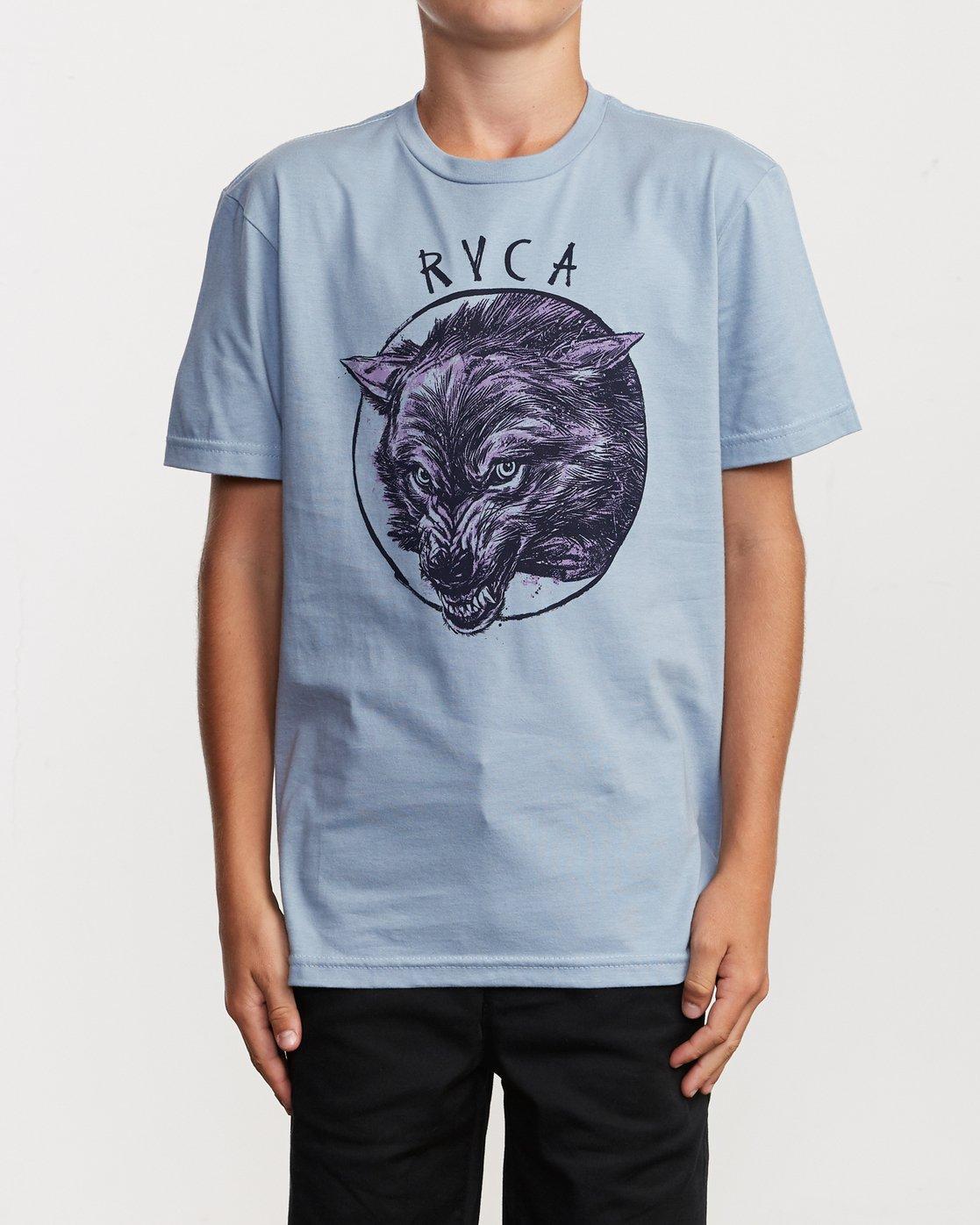 1 Boy's Horton Snarl T-Shirt Blue B401VRSN RVCA