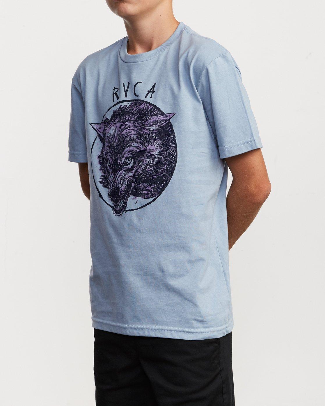 2 Boy's Horton Snarl T-Shirt Blue B401VRSN RVCA